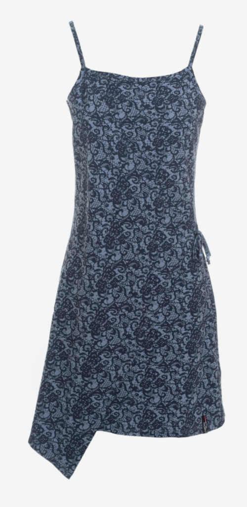 letní šaty na ramínka s celoplošným potiskem
