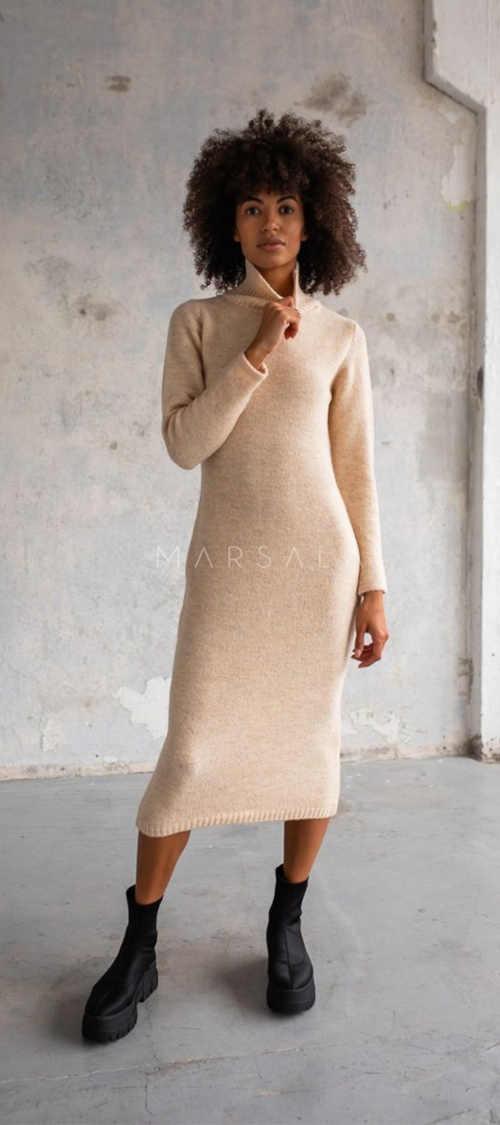 rolákové šaty dlouhé úplé