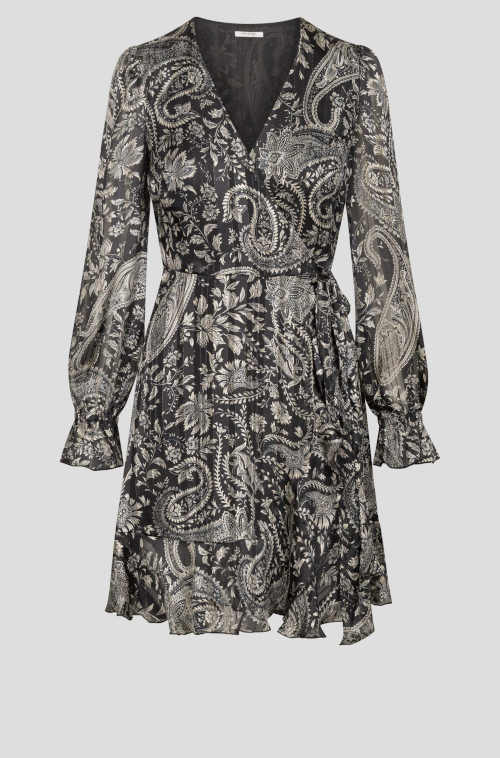 zavinovací šaty s véčkovým výstřihem