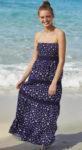 Dlouhé pohodlné plážové šaty s odnímatelnými ramínky
