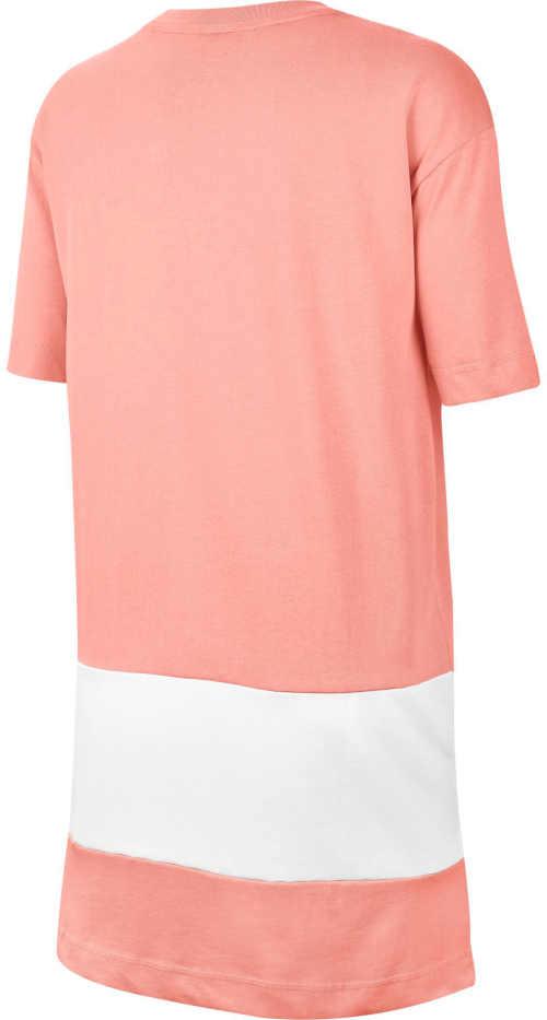 bílo-růžové sportovní šaty Nike