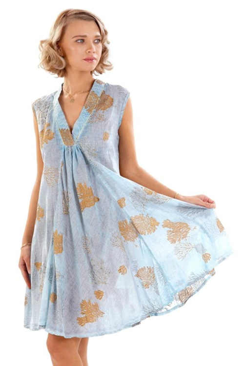 letní vzdušné vzorované šaty