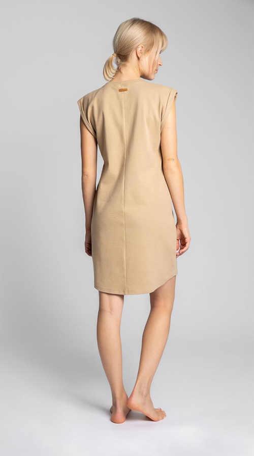 světle hnědé letní šaty