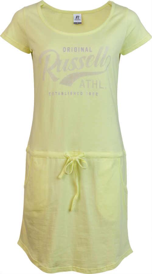 Dámské letní žluté šaty Russell sportovně-ležérního střihu