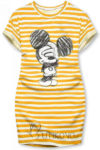Stylové pruhované šaty s veselým obrázkem Mickey Mouse