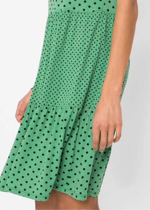 elegantní šaty s krátkým rukávem puntíkaté