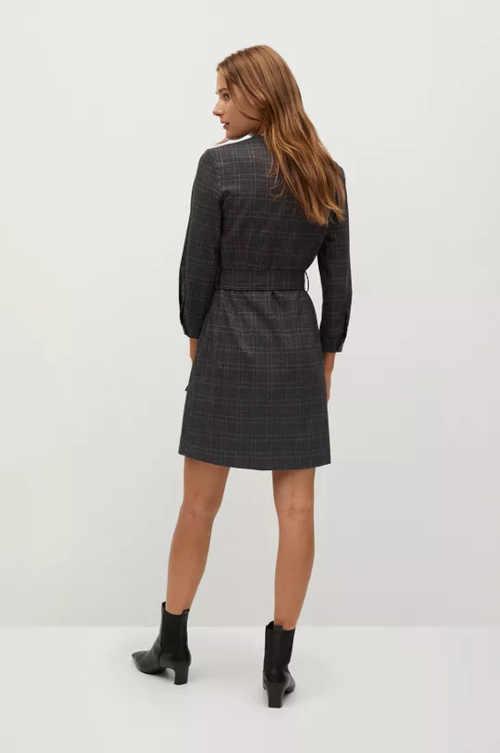 kárované moderní zavinovací šaty