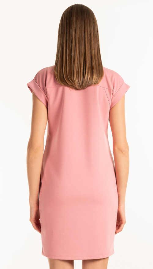 moderní krátké šaty s ohrnutým rukávem