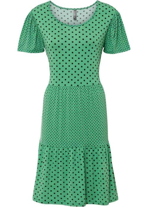 moderní pohodlné šaty v moderním puntíkatém vzoru