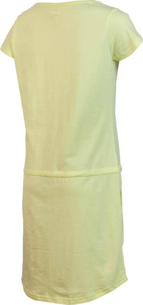 moderní pohodlné žluté šaty na léto