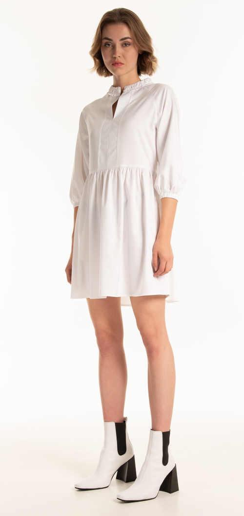 moderní šaty s delším rukávem do pružného lemu