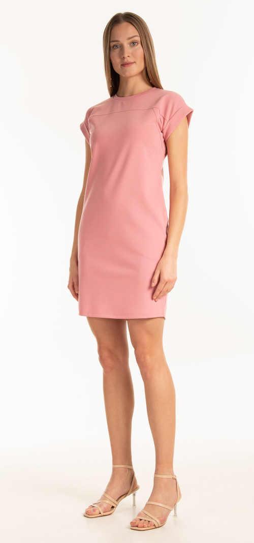 růžové krátké šaty na léto