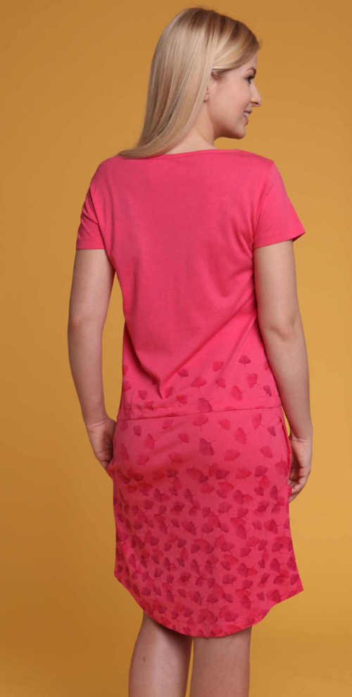 šaty s kulatým výstřihem krátký rukáv