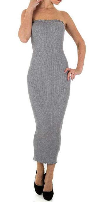 Dámské dlouhé úpletové šaty v univerzální velikosti