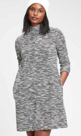 Dámské šaty GAP s dlouhým rukávem a stojáčkem u krku
