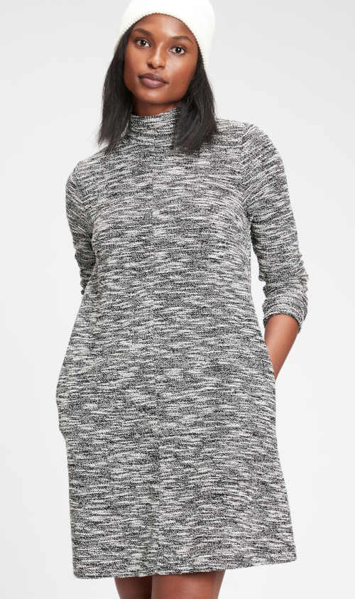 Dámské šaty GAP s 3/4 rukávem a stojáčkem u krku