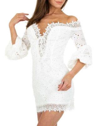 Dámské stylové letní mini šaty v rafinovaném střihu