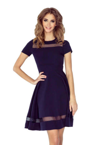 Stylové dámské romantické šaty s tylovými vsadkami