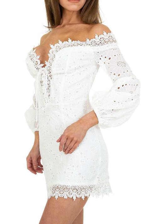 bílé dámské letní mini šaty
