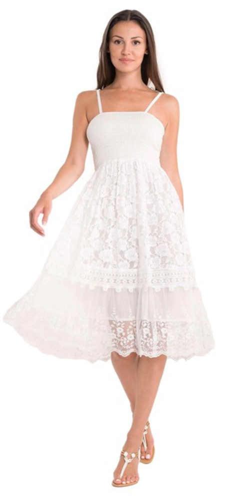 bílé moderní letní šaty