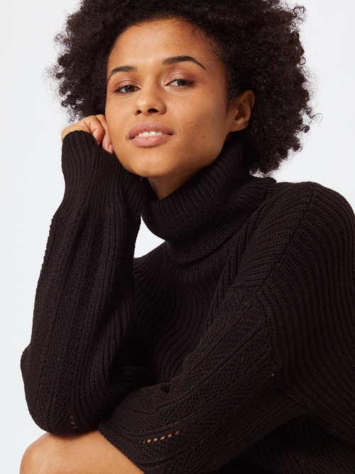 Černé svetrové dámské šaty výprodej