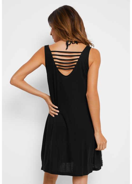 černo-bílé dámské letní šaty