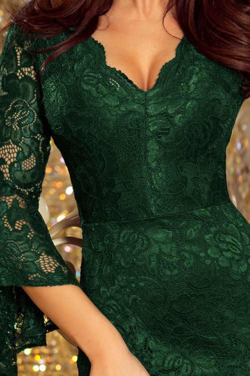 dámské společenské šaty s výstřihem