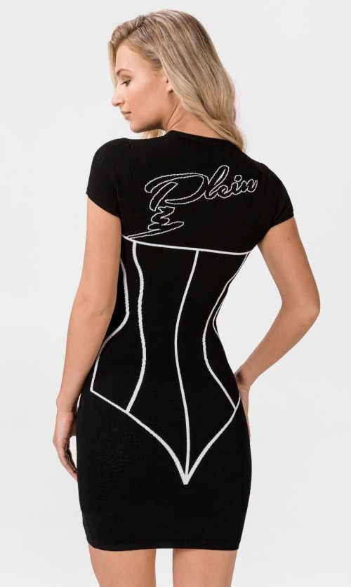 dámské úplé šaty s krátkým rukávem