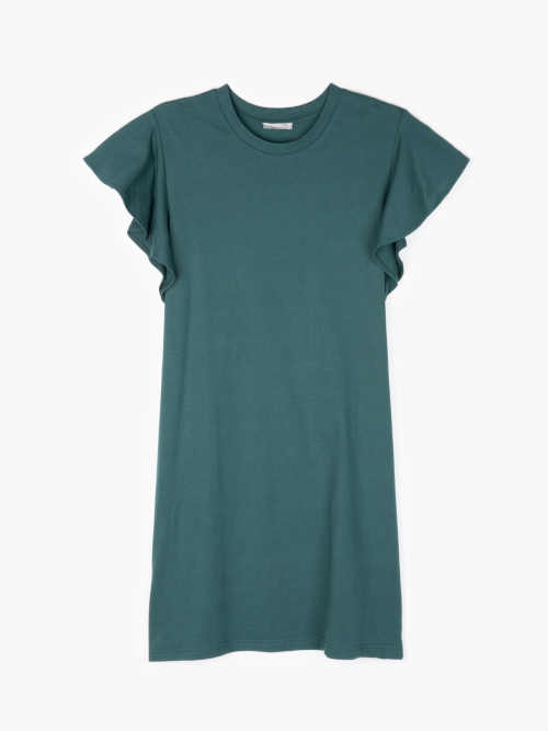 mini šaty zelené volného střihu