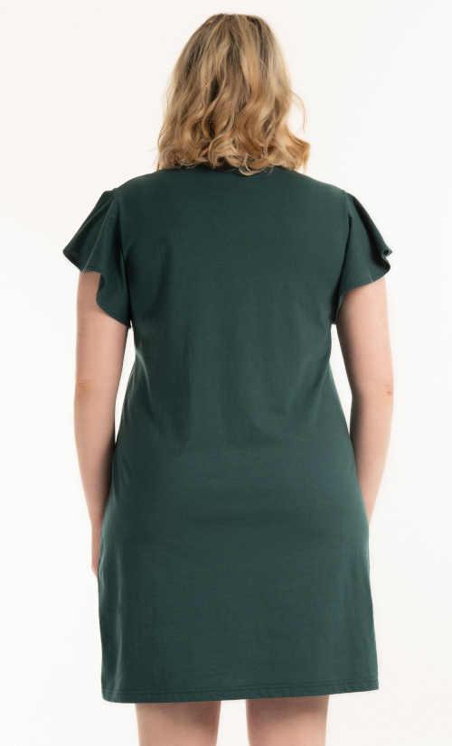 šaty pro plnoštíhlé volného střihu