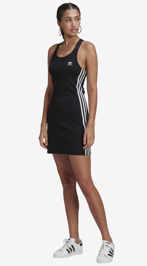 Letní dámské černo-bílé šaty Adidas sportovního střihu