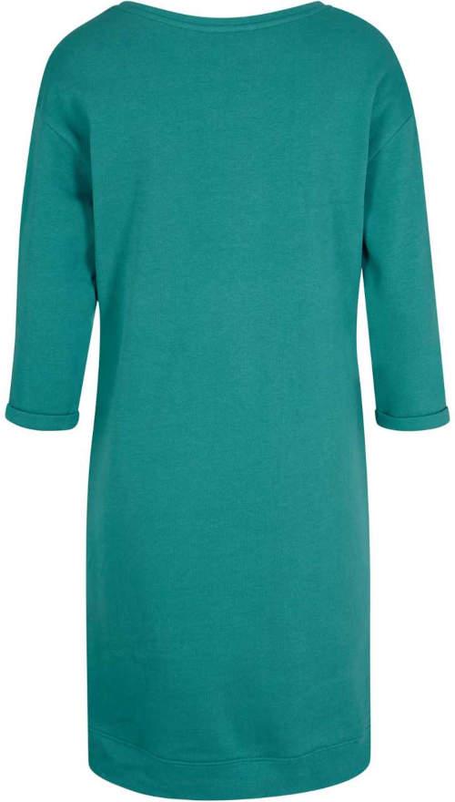 Zelené dámské šaty z bavlněného úpletu