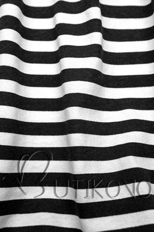 bavlněné černo-bílé šaty