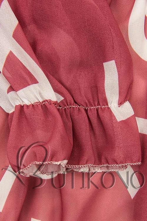 dámské šaty s potiskem písmen