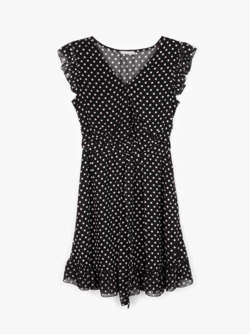 krátké letní puntíkaté šaty