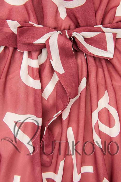 moderní dámské šaty v midi délce růžové