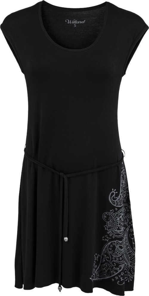 moderní šaty řešené volným střihem