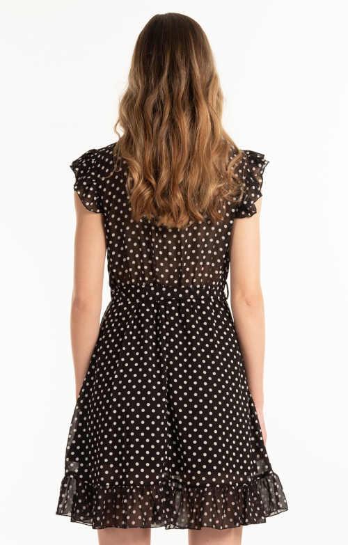 šifónové letní šaty s volánkem
