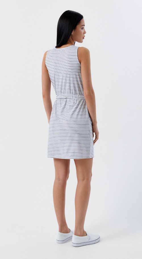 dámské proužkované krátké šaty