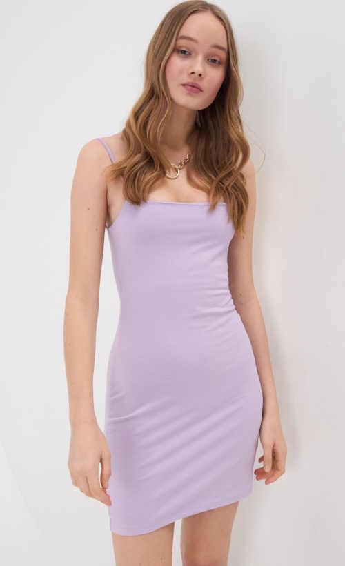fialové dámské mini šaty