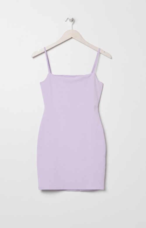 letní mini šaty fialové