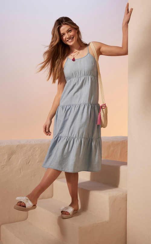 maxi šaty na ramínka Bonprix