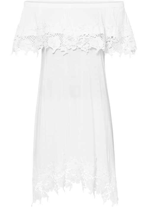šaty bez rukávů bílé