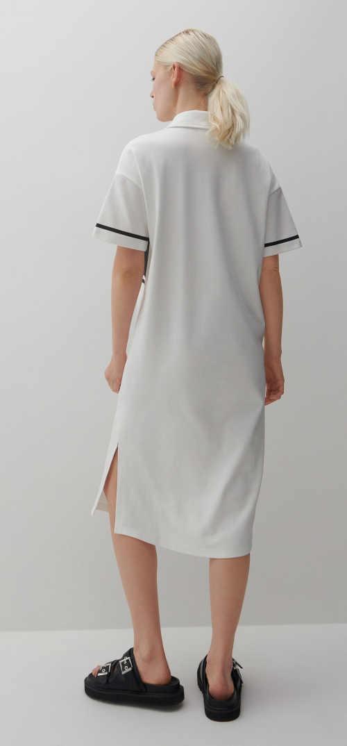 šaty černo-bílé s límečkem