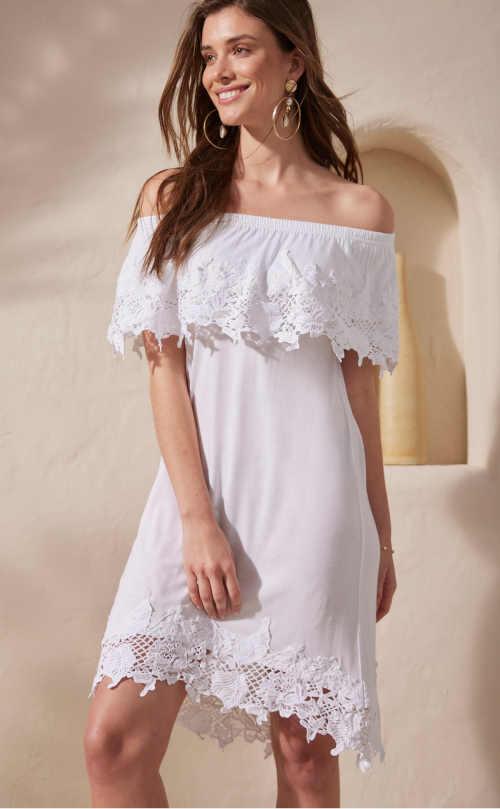 šaty s krajkovou vsadkou
