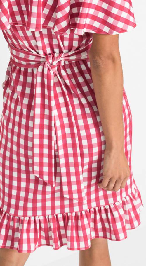Zavinovací dámské šaty s opaskem