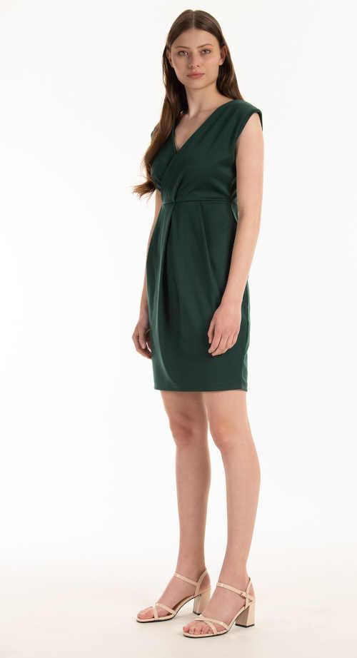 zelené dámské šaty bez rukávů