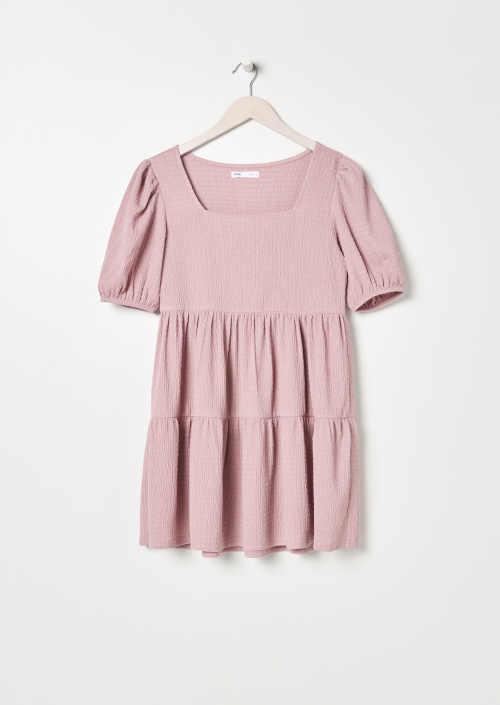 babydoll šaty v růžovém provedení
