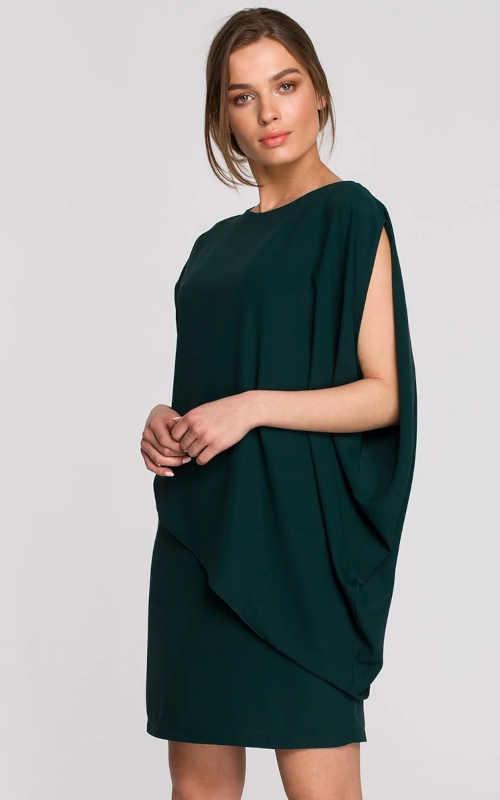 elegantní šaty se spadlým rukávem