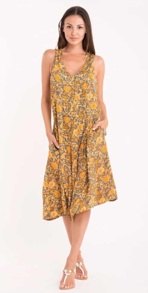 komfortní šaty s výstřihem do V